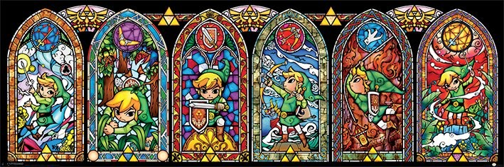 Póster The Legend Of Zelda - Stained Glass