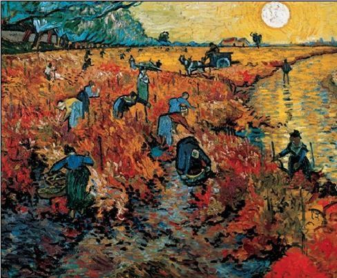The Red Vineyards near Arles, 1888 Kunstdruk