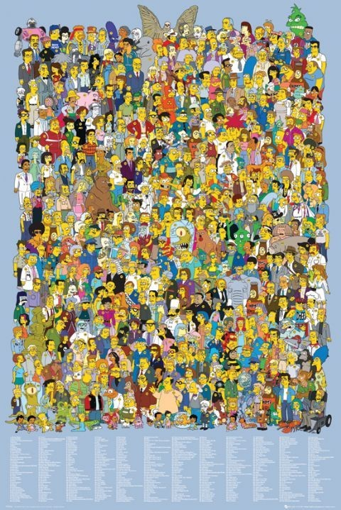 Póster  THE SIMPSONS - cast 2012
