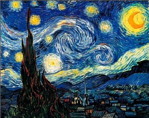 The Starry Night, 1889 Kunstdruk