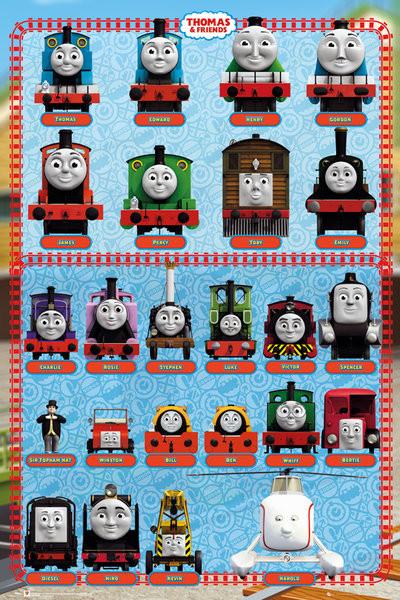 Thomas de stoomlocomotief - Characters Poster