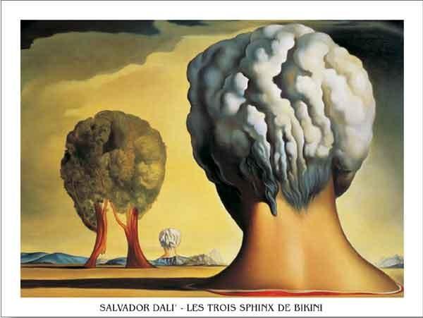 Three Sphinxes Of Bikini, 1947 Kunstdruk