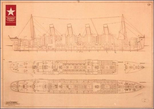 Titanic - Plans Kunstdruk