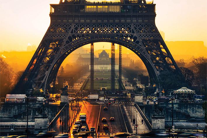 Póster  Torre Eiffel - Sunrise