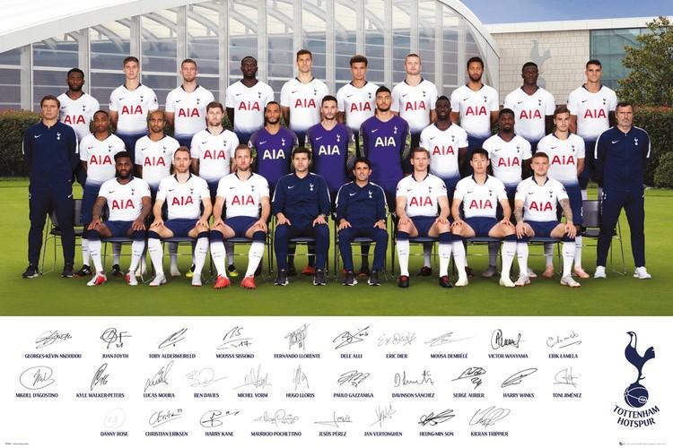 Poster  Tottenham Hotspurs - Team Poster 18-19