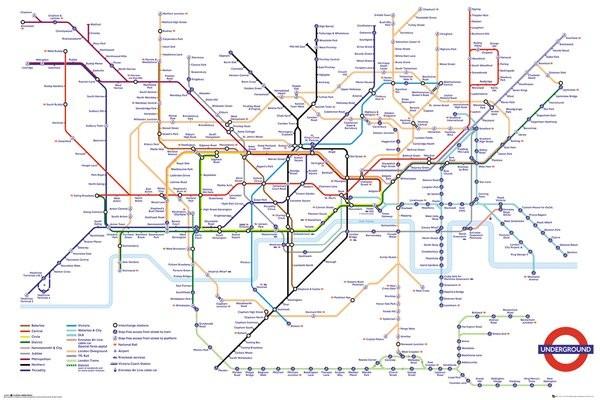 Póster  Transport For London - Underground Map