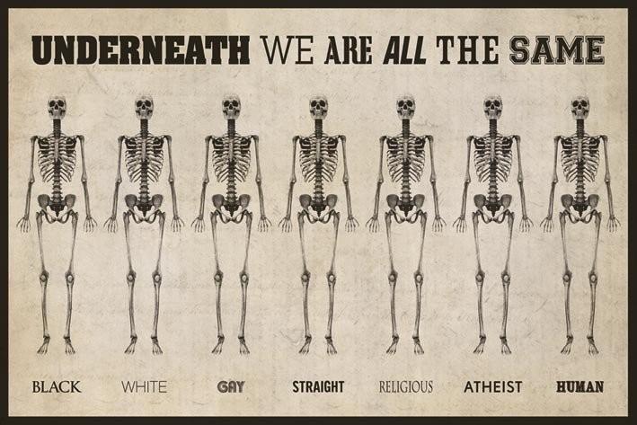 Poster quadro underneath we are all the same su for Cornice poster 61x91