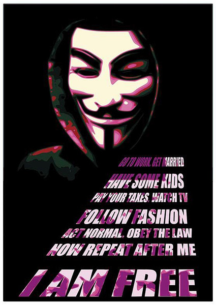 Poster V per Vendetta - Mask