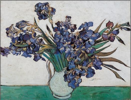 Vase with Irises, 1890 Kunstdruk