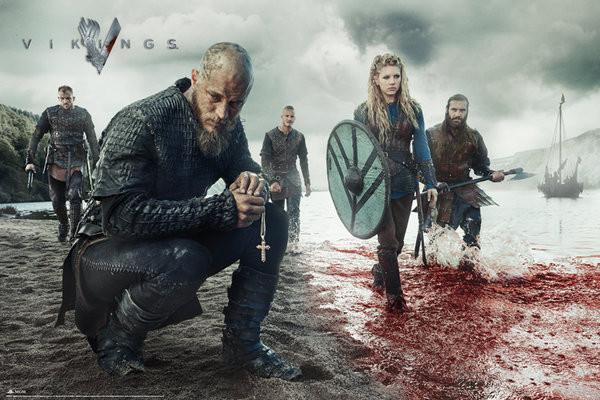 Póster Vikingos - Blood Landscape