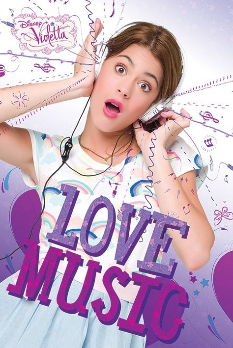Póster Violetta - Love Music