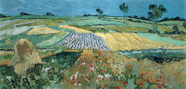 Wheat Field with Reaper, 1889 Kunstdruk
