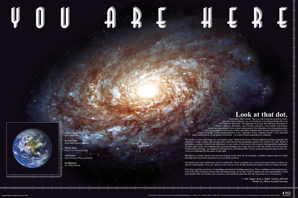 You Are Here - Space Poster