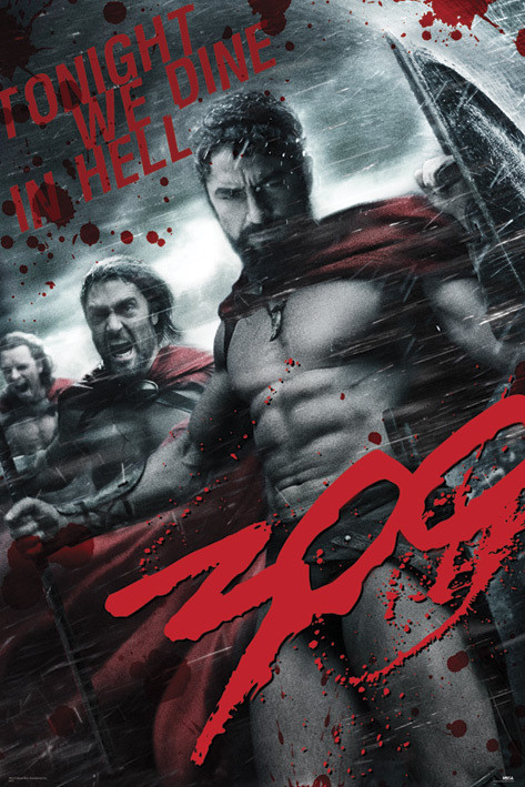 300 - grey Poster