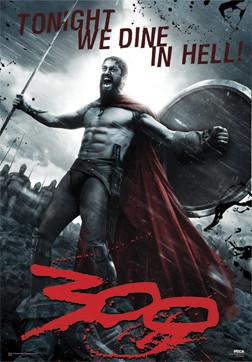 300 - Leonidas 3D Poster 3D