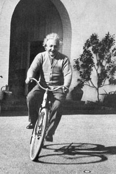 Albert Einstein – ride on bike Poster