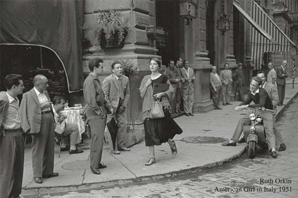 American girl in Italy, 1951 Reproducere