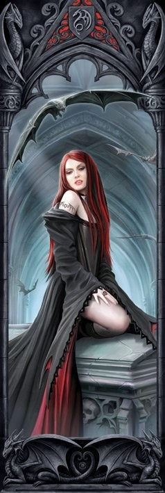 ANNE STOKES - await the night Poster