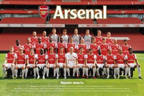 Arsenal - Team photo 2010/2011 Poster