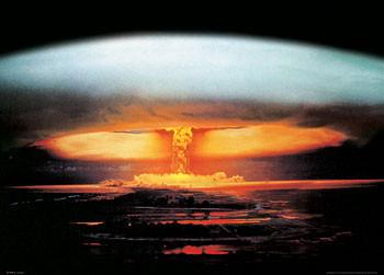 Atom bomb explosion Poster