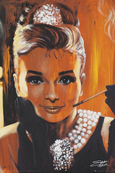 Audrey Hepburn - Breakfast, Fishwick Poster