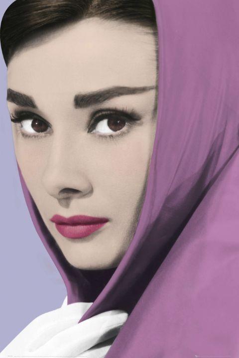 AUDREY HEPBURN - shawl Poster