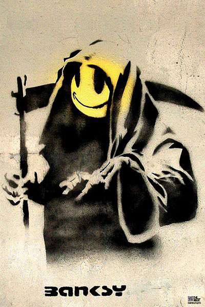 Banksy street art - reaper Poster