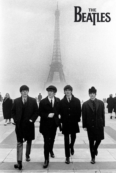 Beatles - in paris Poster
