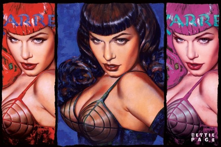 Bettie Page - colours Poster