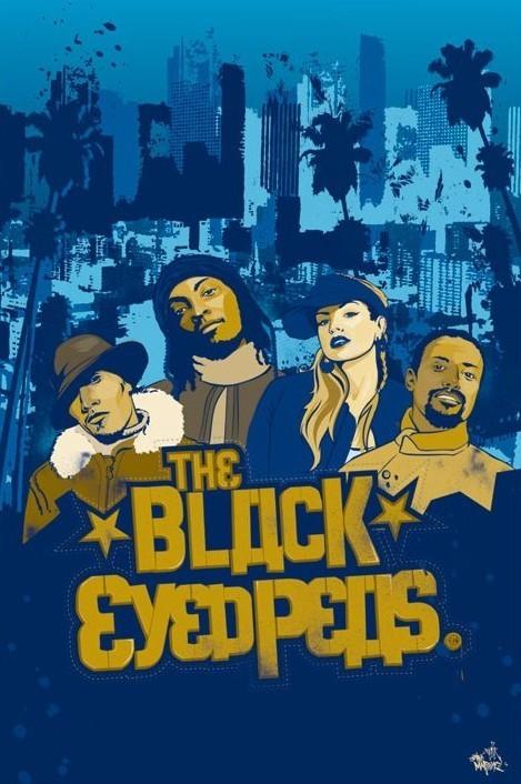 Black Eyed Peas - illlustration Poster