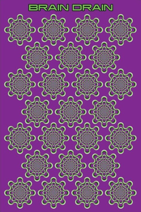 Brain Drain - optic ilusion Poster