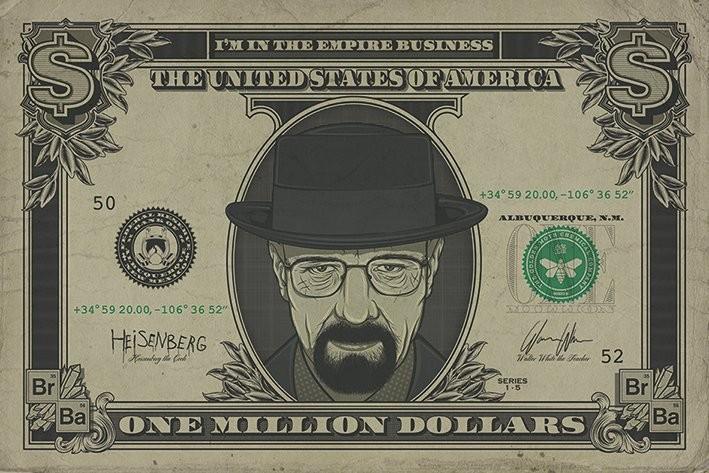 Breaking Bad - Heisenberg Dollar Poster