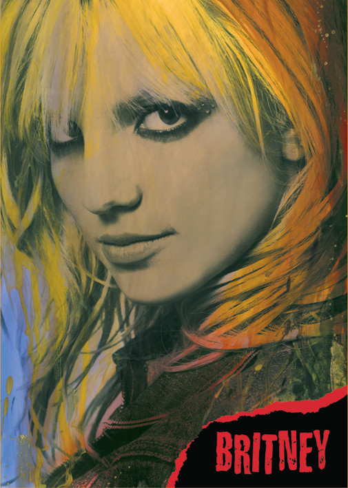 Britney Spears Close-up Poster
