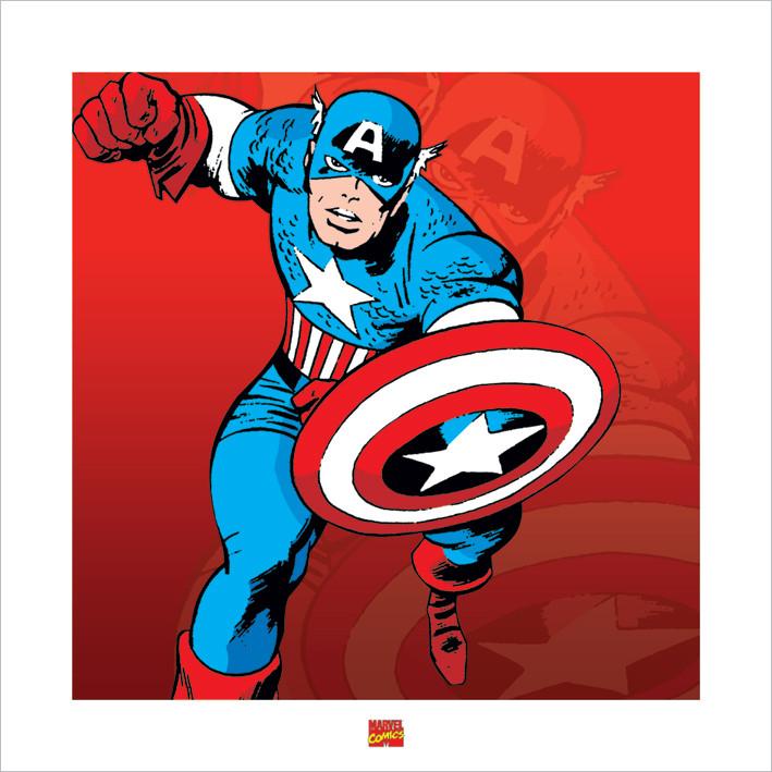 Captain America - Marvel Comics Reproducere