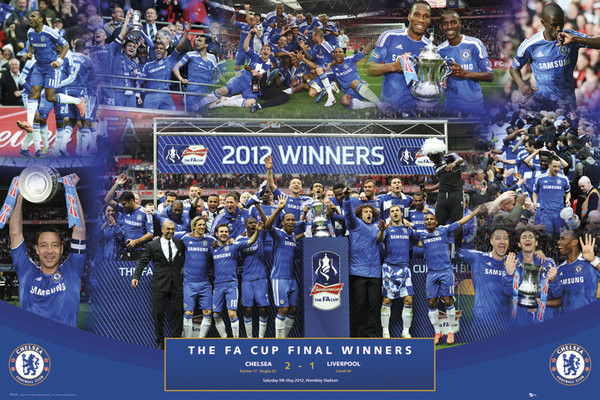 Chelsea - fa cup winners 11/12 Poster