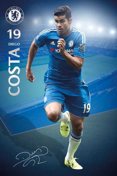 Chelsea FC - Costa 15/16 Poster
