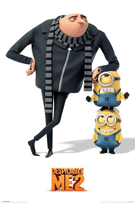 DESPICABLE ME 2 - gru and minions Poster