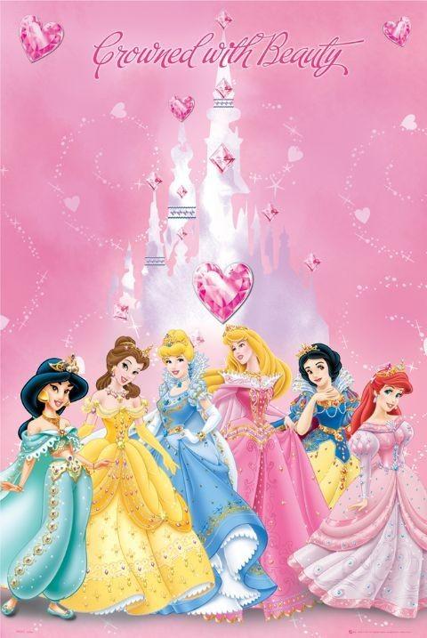DISNEY PRINCESS - crowned Poster
