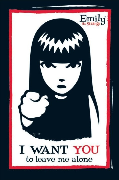 Emily the strange - i want you Poster