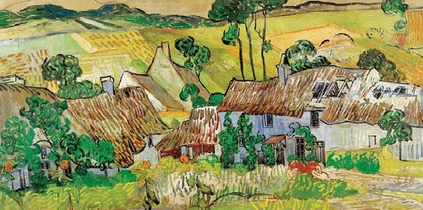 Farms near Auvers, 1890 Reproducere