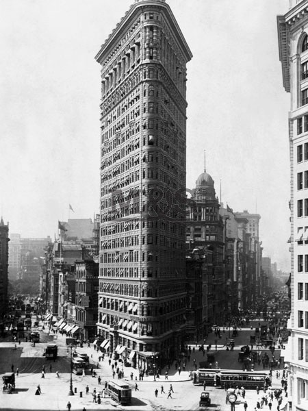 Flattron building in New York 1909 Reproducere
