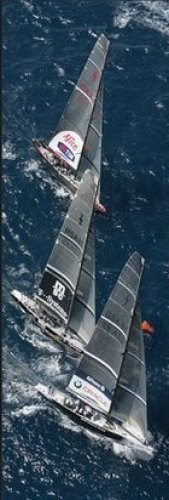 Fleet to the mark - 32nd America's Cup Reproducere