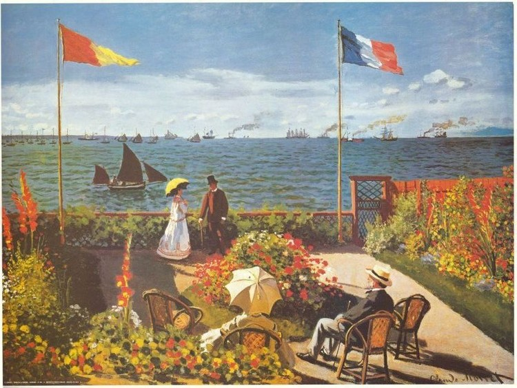 Garden at Sainte-Adresse, 1867 Reproducere