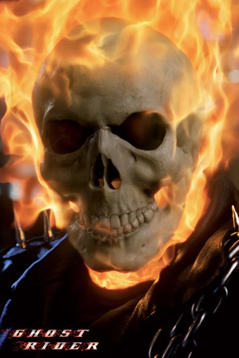 Ghost rider - skull Poster