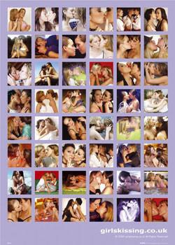 Girls Kissing Poster