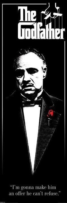 GODFATHER - red rose  Poster