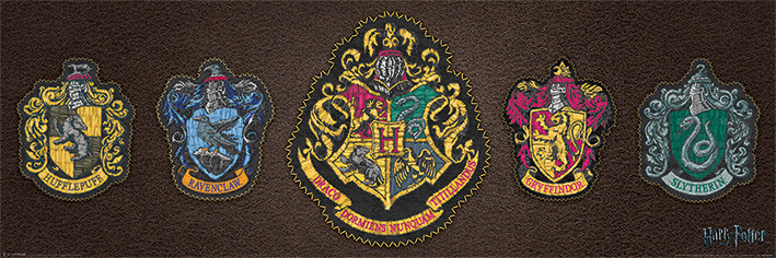 Harry Potter - Crests Poster