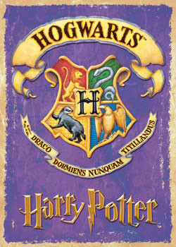 HARRY POTTER - school badge Poster