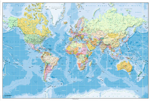Harta Politica a Lumii 2011 Poster