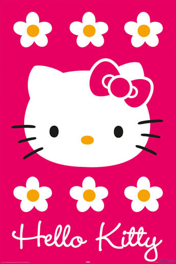 HELLO KITTY - magenta Poster